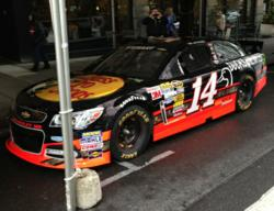 The No. 14 Sprint Cup car, featuring the DU logo and driven by Tony Stewart, will race at Daytona International Speedway on July 6.