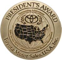 Toyota President's Award 2012