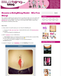 image of bellybling blog