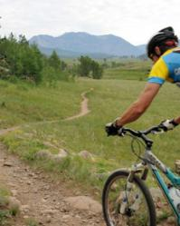 Mountain biking is one of the stages in the EPIC Mountain Challenge.