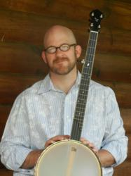 Bob Minner with the Islander Ash Leaf banjo.