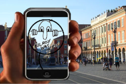 is a free app allowing users to leave augmented reality messages at their current location