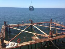 Articulating Diamond Wire Saw Decommissioning Gulf Of Mexico Rig