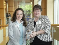 Marstel-Day Employees Amanda Boccuti (left) and Chief Sustainability Officer Gail Dunn (right)