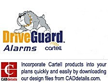 Cartell Has Joined CADdetails.com to Provide Professional Customers Easy Access Digital CAD Drawings of Cartell's Driveway  Alarms and Free Exist Systems