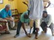 Peter Rosenberger with Ghana prosthetic technicians