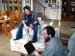 Sligo brothers Victor (Allen Radway) and Kyle (Sam Sherburne) in AMERICAN SLIGO at New City Stage Company.