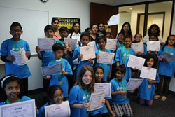 ALOHA Mind Math Olympiad students from the King Of Prussia, Pennsylvania Aloha Mind Math learning center.