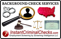 Background Check Product List