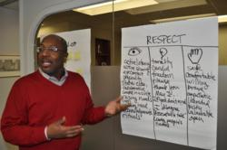 Mark Fowler leads a session of Tanenbaum's Cultivating Global Citizenship course