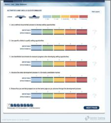 Sandler Training tool for benchmarking sales team performance