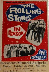 Original 1964-66 Rolling Stones Sacramento, California Concert Poster