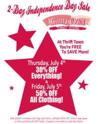 Thrift Town's 4th of July 2-Day Sale