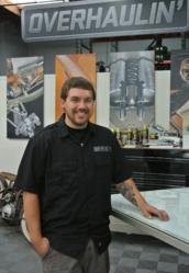 Ian Van Scoyk on the set of Overhaulin'