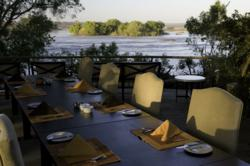 Dining at Toka Leya Camp, Botswana