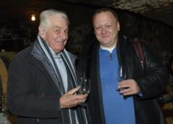Georgiy Kharchenko and wine maker Albert Grivault