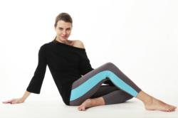 The new Mandelieu Trousers by Prancing Leopard Organics featuring organic zeugma high-tech fabric