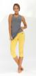 The Seychelles Capris in Yellow by Prancing Leopard Organics