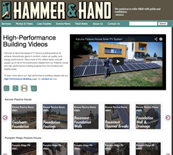 High performance building video page.