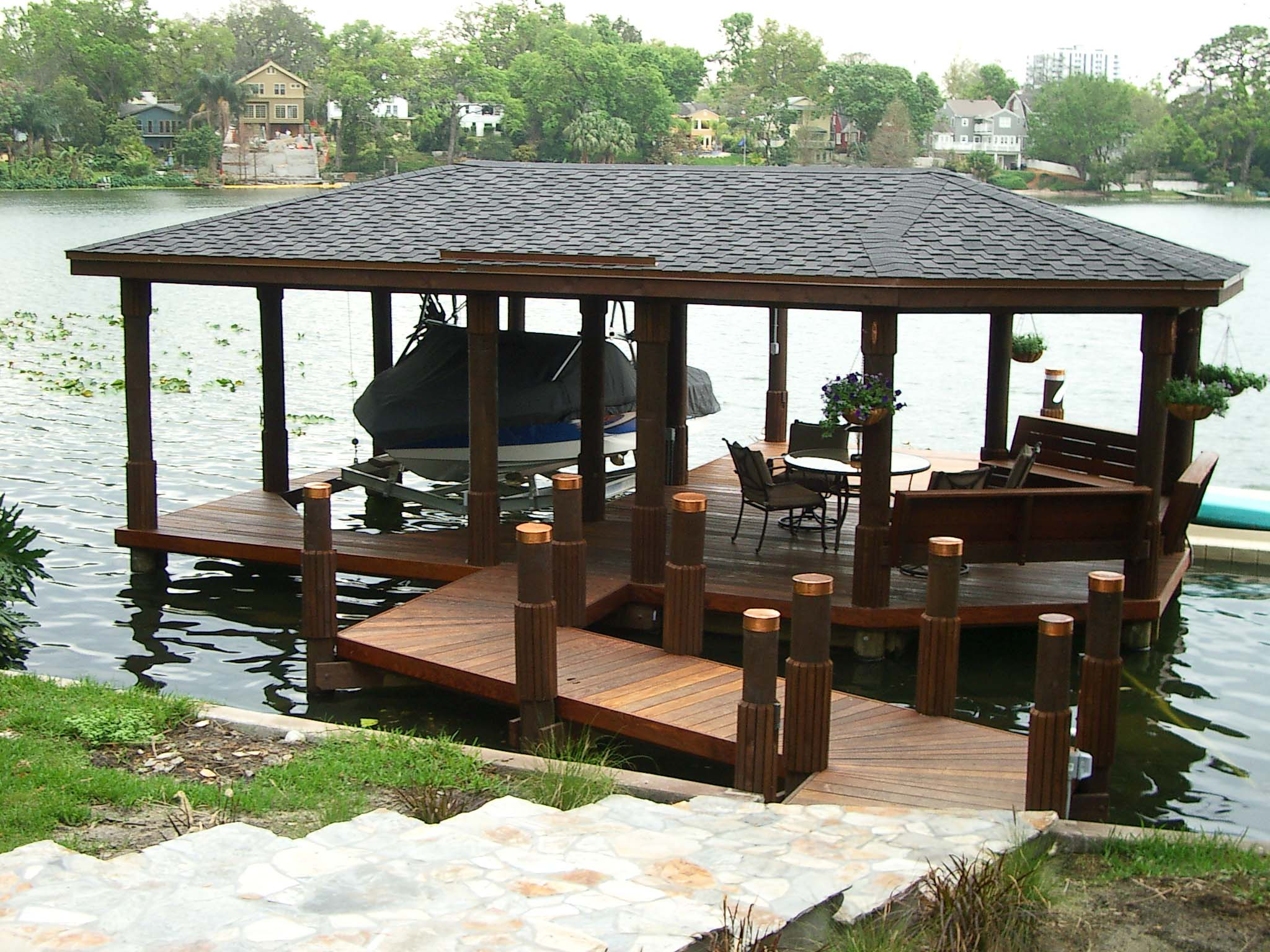Orlando boat dock builder fender marine construction for Boat house plans pictures