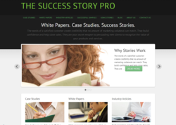 Case studies are the focus of a new website, TheSuccessStoryPro.com