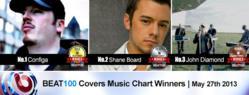 Configa, Shane Board, and John Diamond Top the BEAT100 Originals Music Video Chart