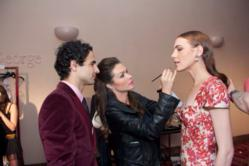 Makeup Artist Jentry Kelly Prepares Models for Zac Posen Fashion Show