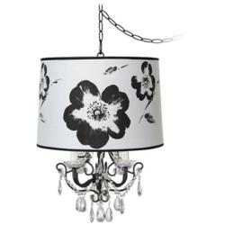Designer Shade Chandelier With Printed Art Shade