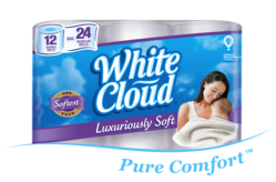 White Cloud® is excited to announce the launch of its newest bath tissue, White Cloud Luxuriously Soft.
