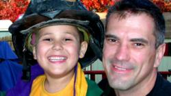 9/11 first-responder with his son a few days before Sept. 11, 2001