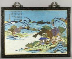 18th C. Qing Dynasty cloisonné plaque.