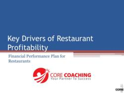 CORE Drivers of Restaurant Profitability