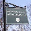 Admissions Sign