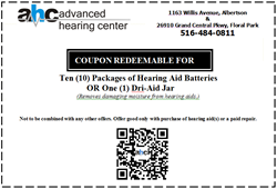 Ten Complimentary Hearing Aid Batteries Offer from Advanced Hearing Center