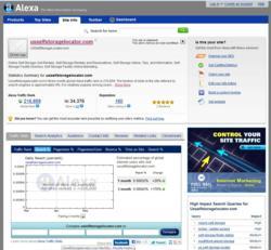 USSelfStorageLocator.com's Alexa Page