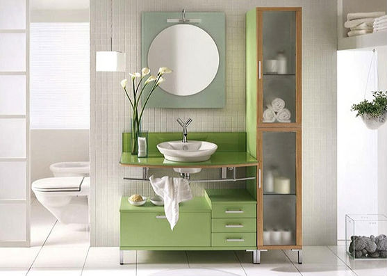 Bathroom Vanity Set by The Interior Gallery Lime Light Modern Bathroom