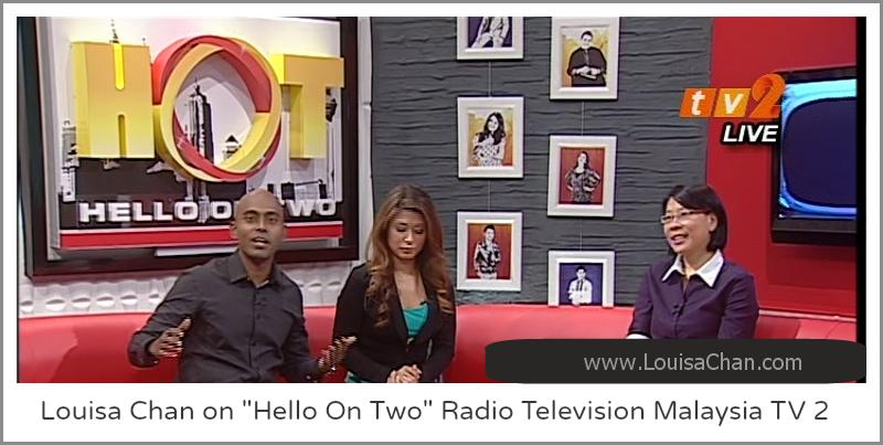 Malaysia TV Channel RTM2 Interviews Louisa Chan Regarding