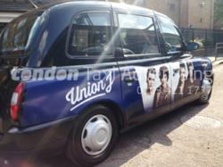 Union J Taxi Advertising