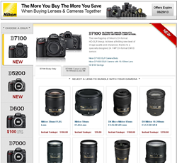 Nikon Instant Saving on  Cameras and Nikkor Lenses at B&H Photo