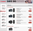 Canon DSLR Cameras and Lenses Bundle Savings