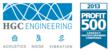 HGC Engineering, Canada's largest acoustical consulting engineering firm has been recognized on the  PROFIT 500, the definitive ranking of Canada's Fastest-Growing Companies.