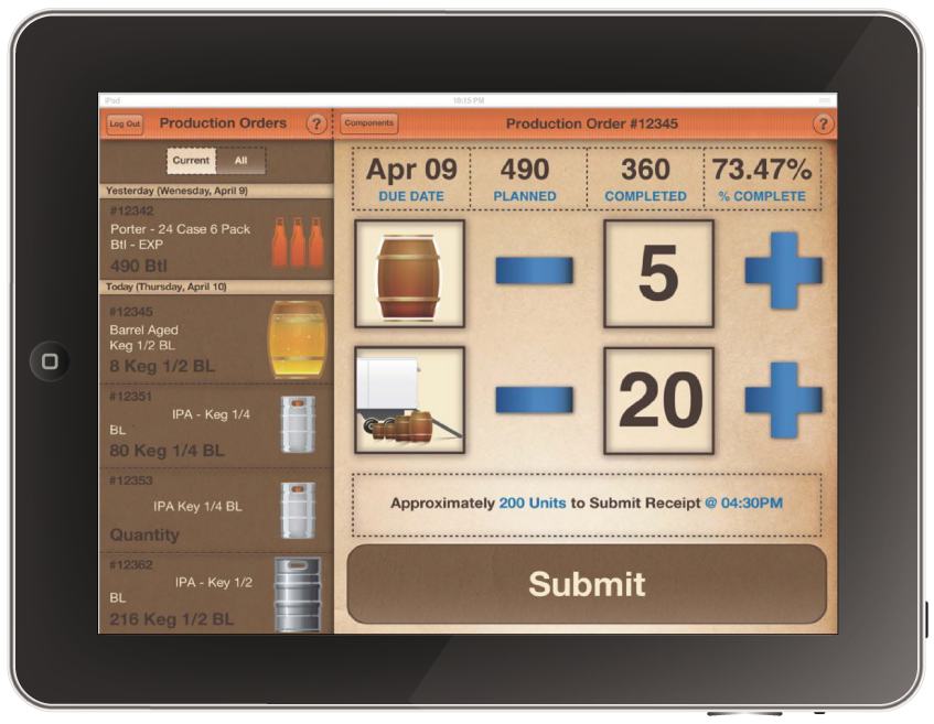 Brewery management software goes mobile for Brewery layout software