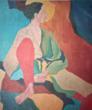 Asiatique, Acrylic on Canvas, Janet Logan