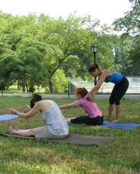 Pilates classes in Central Park