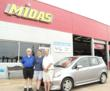 Dallas Midas Shop Celebrates After Customer's 2007 Honda Fit...