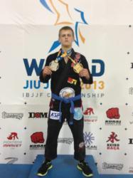 Crazy 88 coach Devon Delbrugge at the IBJJF Worlds