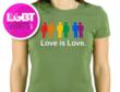 Love is Love T-shirt from www.LgbtShirts.com