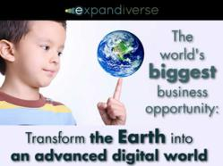 The world's biggest business opportunity:  Transform the Earth into an advanced digital world