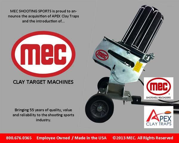 mec clay target machine