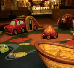 PLAYTIME created a custom-themed indoor playground for Concord Mall.
